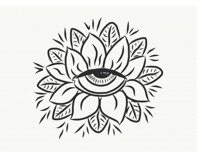 Œil floral / tatouage