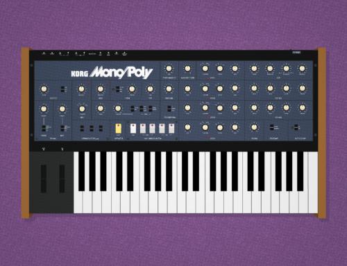 Korg Mono/Poly iOS wallpaper