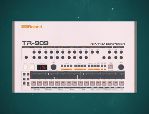 Roland TR-909 iOS wallpaper